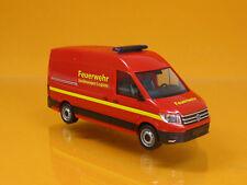 Herpa 093477 Volkswagen VW Crafter Kasten Feuerwehr Gerätewagen Logistik 1 87