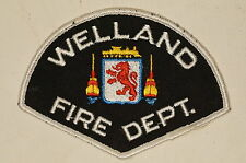 Canadian Ontario Welland Fire Department Patch