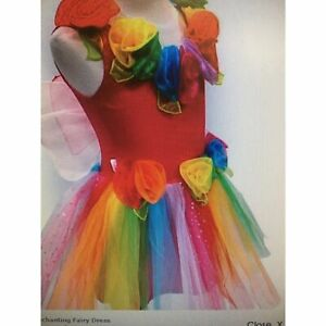 Fairy Girls Dress Up Enchanting Fairy Dress Rainbow