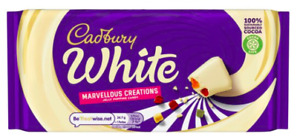 Cadbury White Marvellous Creations Jelly Popping Candy Chocolate 3,6,9x 160g Bar
