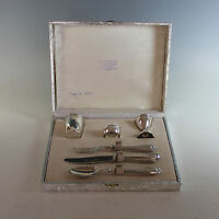 Antique 800 Italian Silver Breakfast or Childrens Set
