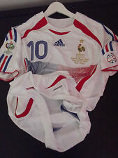 Maillot Foot Équipe France Zidane N°10 Finale Jersey Trikot Real Madrid Shirt xL