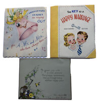 Vintage Happy Anniversary Card Lot of 3 Hand Painted 1924 and 2 Pop-Up Cards