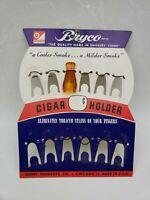NEVER SMOKED BRYCO CHICAGO USA ANTIQUE BAKELITE CIGAR CHEROOT HOLDER Amber Color