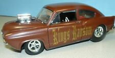 1/18 CUSTOM MADE Henry J Pro Street with a blown Chevy engine , brown