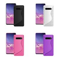 Case For Samsung Galaxy S10 S-Line Silicone Gel Skin Shockproof Phone Cover