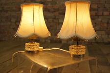 60er 2x NACHTTISCHLAMPE SET LEUCHTE LAMPE PAAR TISCHLAMPEN STEHLAMPE GLAS 70er