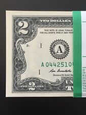 """Wow Two Dollar Bills $2 Note, 2013 """" Boston A """", Gem, Consecutive ,Uncirculated"""