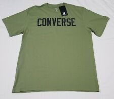 Converse Mens Large olive green Graphic T Shirt Graphic Tee