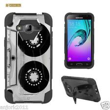 Cassette Tape Shockproof Case w/Stand Cover for Samsung Galaxy Express Prime J3