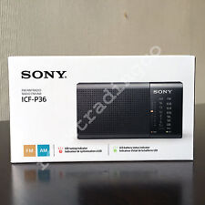 ***NEW*** SONY ICF-P36 Compact Portable AM FM Radio Black