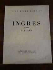 """Ingres Alain 1949 Editions du Dimanche Illustré """"Les Demi-Dieux"""""""
