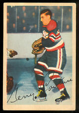 1953 54 PARKHURST HOCKEY #84 GERRY COUTURE VG-EX CHICAGO BLACK HAWKS card