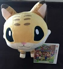 Harvest Moon Skytree Village 3DS PLUS A Large Bobcat Plush Brand NEW by Natsume