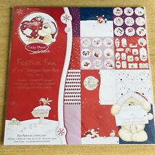 """Christmas 12X12"""" Scrapbook Paper Pad Pack 24 Sheets 150gsm Card Making Craft"""