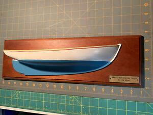 Man-O-War Sailing Dinghy By Joe Albury 18x5.5 Half Hull Model