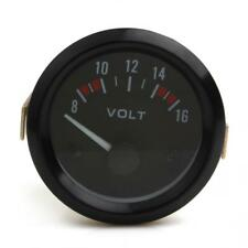Universal 8~16V 2Inch 52mm Voltage Gauge Meter for 8-16V Auto Power Measure NEW