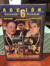 GRANDES DE LA ACCION (DVD 2009) ACCION COLECCION DE 6 PELICULAS/Mfg. Sealed