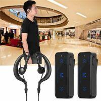2X MINI Walkie Talkie UHF 400-470MHz USB Powered with Earpiece Two Way Radio