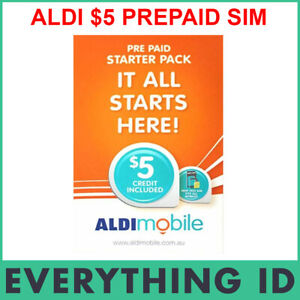 ALDI PREPAID $5 SIM CARD STARTER KIT PACK 3G 4G STANDARD, MICRO, NANO TRI SIM
