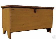 BLANKET CHEST BOX TRUNK PRIMITIVE FARMHOUSE PAINTED COFFEE TABLE RUSTIC PINE