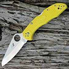 Couteau Spyderco SALT 2 Lame Acier H1 Manche Yellow Back Made Japan SC88PYL2