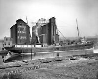 Photograph of the Steamship North Star at Henkel Elevator Cleveland  1905 8x10