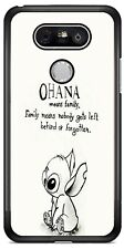 OHANA Lilo and Stitch Phone Case Cover For iPhone 11Pro Samsung S10 LG Google 4