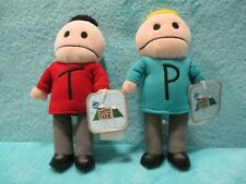 BNWT 1998 Comedy Central South Park - PHILLIP & TERRENCE - Soft Plush Toy Set 5""