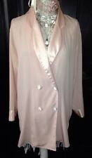 VTG~Sweet VICTORIAS SECRET~ DOUBLE BREASTED~SATIN TRIM PAJAMA SLEEPSHIRT~SMALL S