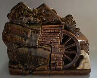 Vintage McCOY POTTERY Down By The Old Mill Stream Double Planter w/ Prospector