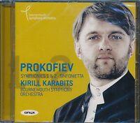 Kirill Karabits Bournemouth Symphony Orchestra Prokofiev Symhony 1 and 2 CD NEW