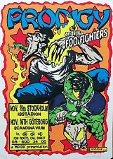 Prodigy Foo Fighters Dave Grohl Swedish Concert Poster Jermaine S/N Original