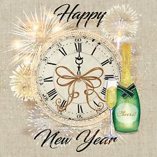 Servietten 20, Serviettentechnik Happy New Year Silvester Ambiente 33 x 33