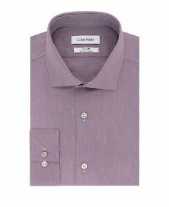 Calvin Klein Slim Fit Dress Shirt Mens Steel + Non-Iron Performance Long Sleeve