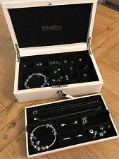 Pandora Portagioie in pelle - 2 livelli, bloccabile-RARE