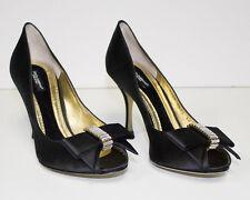 New Dolce & Gabbana 50 % OFF - Rhine Stone Bows  39 1/2  Size 9 (M)Black