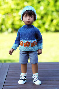 Sasha Doll Highland Cow Sweater Set by Rosie
