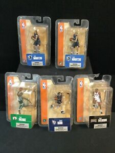 (5) 2004 McFarlane Sport Picks SEALED 3 Inch Figures (Iverson, Nowitzki, Pierce,