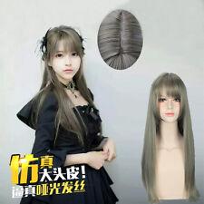 Cosplay Wig Lolita Harajuku Mixed Gray Women Femile Wig Long Straight Hair Wigs