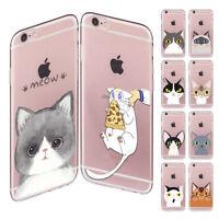 Cat Head Series Soft TPU Phone Case Cover For Iphone 5c 4 5 6 Plus 7 6s 8