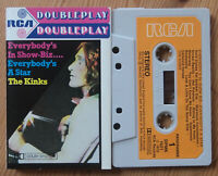 THE KINKS - EVERYBODY'S IN SHOW BIZ (RCA DPMK1021) 1972 UK DOUBLE PLAY CASSETTE