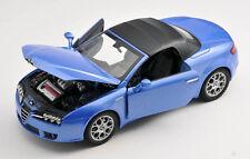 BLITZ VERSAND Alfa Romeo Spider blau / blue Welly Modell Auto 1:24 NEU & OVP