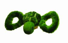 Jolly Pets Tug-A-Mals Turtle Small | Green Squeaky Plush Toy for Dogs