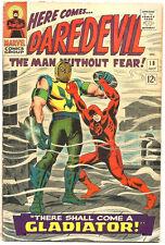 Daredevil #18 MARVEL COMICS 1966 Stan Lee  Johnny Romita 1st & Origin: Gladiator