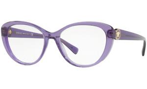 $485 Versace Women Purple Eyeglasses Frames Glasses Italy Ve3246b 5160 54-17-140