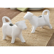 Nostalgic White Cow Creamers Pour Milk from Cow Set of 2