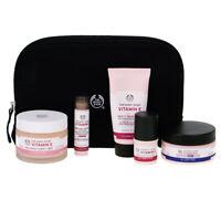 The Body Shop Vitamin E Skincare Gift Set - Night Cream Facial Wash Eyes Cubes