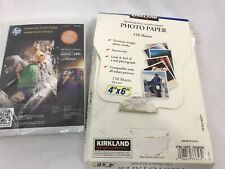 Lot of HP and Kirkland Inkjet Photo Paper, 5x7 and 4x6