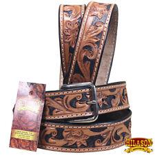 Leather Gun Holster Belt Handmade Floral Tool Western Work Men Hilason U-7BK1